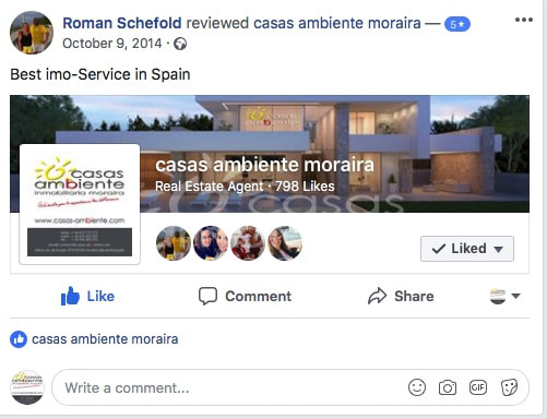 Facebook Post, 5 Star rating by Roman Schefold on 09-10-2014​